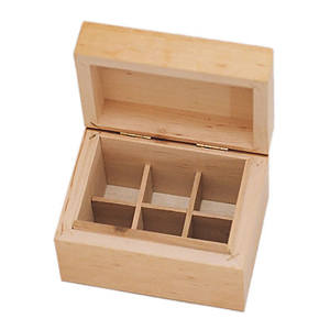 6 Bottle Wooden Aromatherapy Box