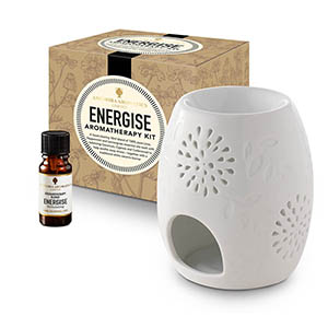 Energise Aromatherapy Kit -  with Style 2  traditional burner