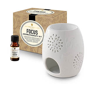Focus Aromatherapy Kit - with Style 2 traditional burner.