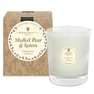 Mulled Pear & Spices 40hr Pot Candle.