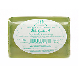 AA Skincare Bergamot Clear Vegetable Glycerin Soap 125g Single