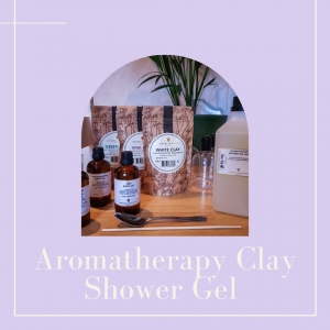 Aromatherapy clay shower gel